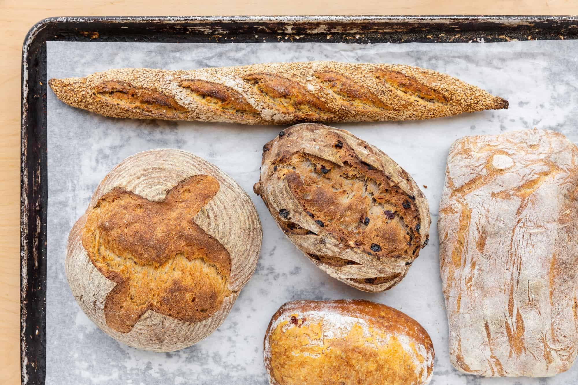 Assortments of Breads from Milo & Olive