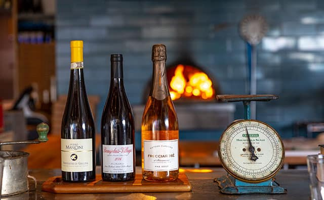 Wine and Wood-Fired Oven at Milo and Olive