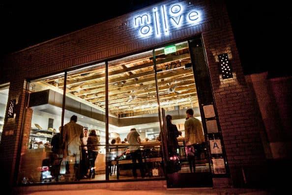 Restaurant exterior at Milo & Olive