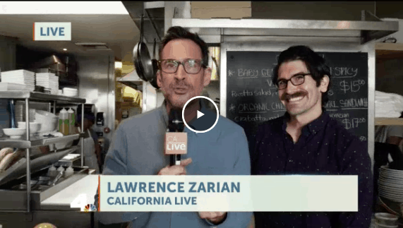 California Live Host Lawrence Zarian conducting an interview